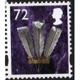 W109 Wales 72p stamp
