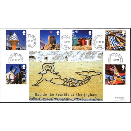 2734 Beside the Seaside Norvic Sheringham cds exclusive fdc