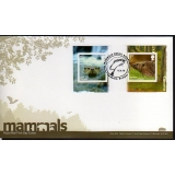 3095 Endangered Mammals booklet pair o..