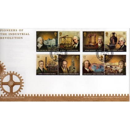 2916 Industrial Pioneers Royal Mail first day cover