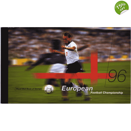 DX18 European Football 1996 Prestige Stamp Book