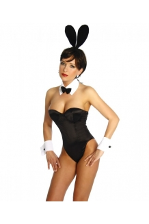 Sexy Black Playboy Bunny Girl Costume
