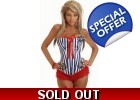 Sailor Burlesque Striped Corset