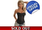 Black Lace Sheer Corset Bustier