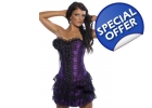MOULIN ROUGE PURPLE LACE CORSET BUSTI..