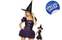 Purple Witch Halloween ..