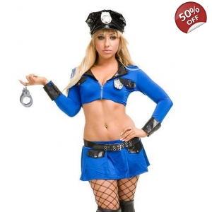 Blue police fancy dress