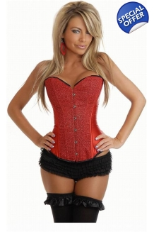 Red Glitter Burlesque Corset