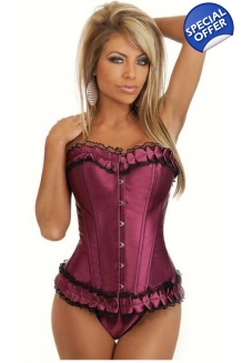 Purple Ruffled Corset