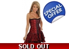 Red Moulin Rouge Corset Dress Skirt