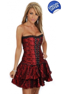 Red Moulin Rouge Corset Dre..