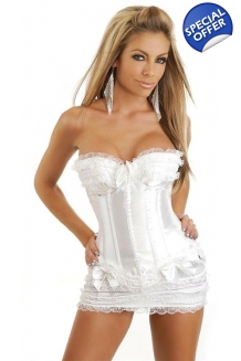 White Bridal Corset Bus..
