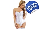 Bridal White Corset Satin Delicious