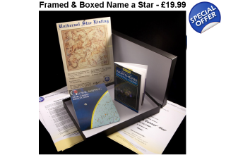 Framed & Boxed Name a Star - Best Seller