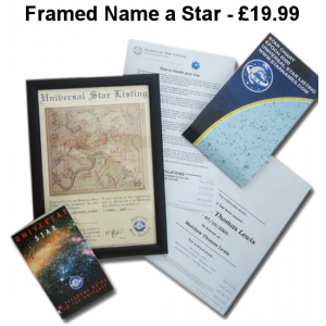 Framed Classic Name a Star