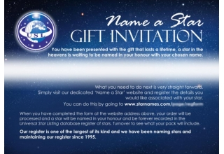 Name a Star - Gift Invitation