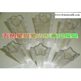 heart shape cucumber mold and star sha..