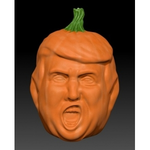 trump shape pumpkin mold designed for US client