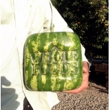 make a square watermelon with logo on it