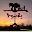 Shire Horses and plough weathervane