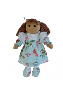 Blue Floral Rag Doll