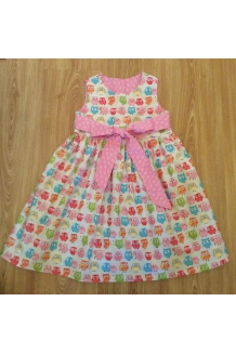 Pink owl party dress