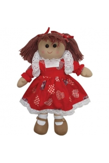 Love heart rag doll