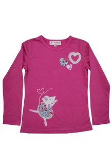 Ballerina mouse applique top