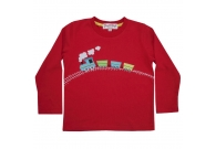 Train applique top