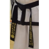 ITF Embroided High Quality Black Belts