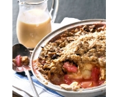 Rhubarb Crumble with Cust..