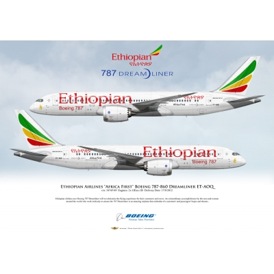 Ethiopian Airlines Africa First Boeing 787-860 Dreamliner ET-AOQ