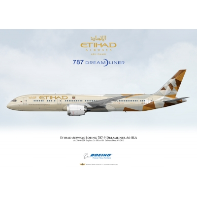 Etihad Airways Boeing 787-9 Dreamliner A6-BLA