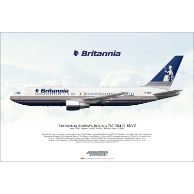 Britannia Airways Boeing 767-204 G-BKVZ