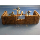 WOOD AND LOG FENCING FOR CANNON CREW N..