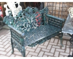 Oak & Ivy Victorian Style Cast Iron Bench