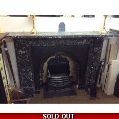 Large Original Victorian Black Marble Surround