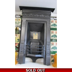 Original Edwardian Cast Iron Bedroom Fireplace