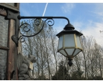 Original Victorian Brass Exterior Lantern on Cor..