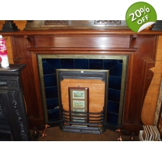 Large Original Edwardian Mahogany Fire Surround