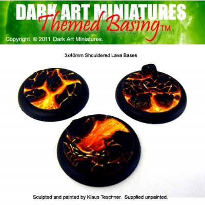 40mm DS Lava bases