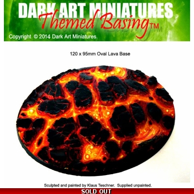 Oval Lava base 120x95mm..