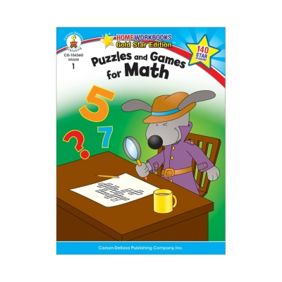 Puzzles and Games for Math Workbook Gr. 1