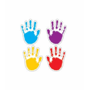Handprints Colorful Cut..