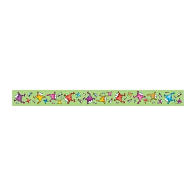 Colorful Froggies Straight Border