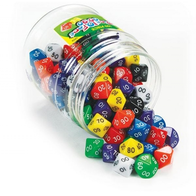 Dice 10 Face 00-90 Set of 100