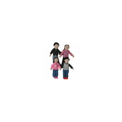 FINGER PUPPETS_FAMILY CHARACTERS: FAMILY SET OF 4_MEDIUM S..