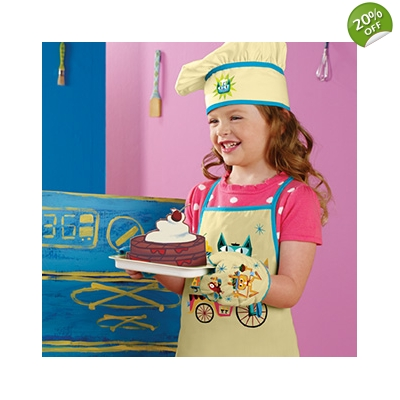 CHET THE CAT™ AND FRIENDS CHEF SET APRON, HAT, M..