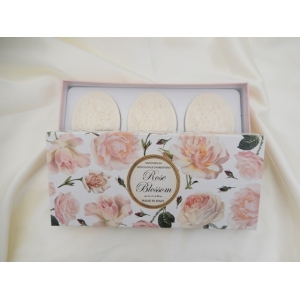 FIORENTINO ROSE ´CARVED´ SOAPS 3 X 125G