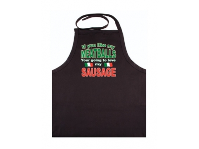 "Adult Apron "" If you Like my Meatballs Your going to Love my Sausage"""